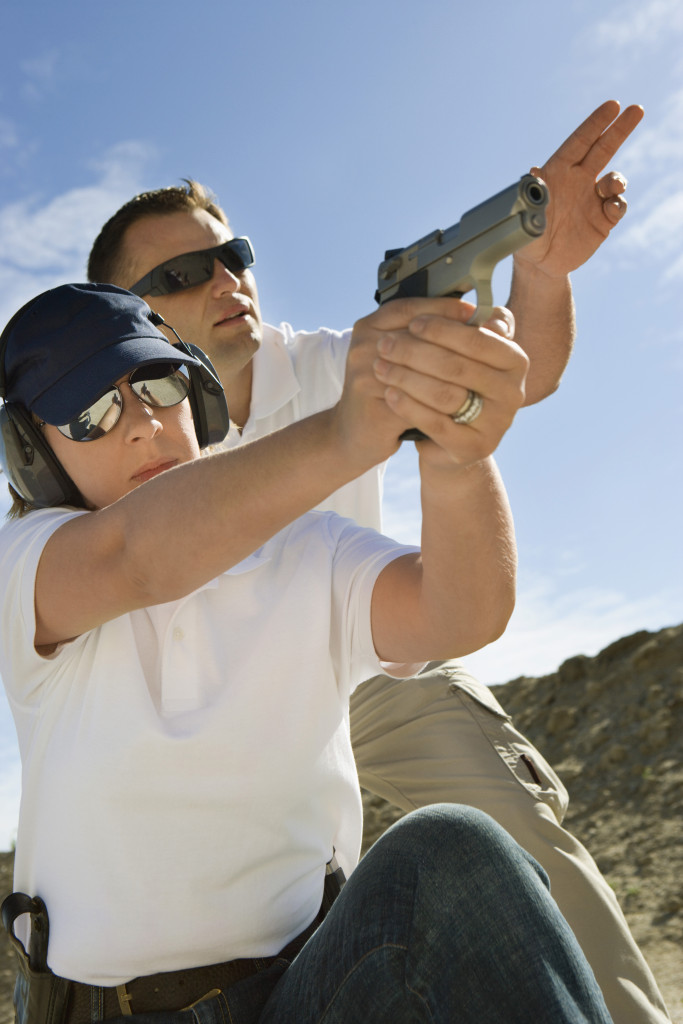 instructor and student shooting - new york pistol permit course about the course